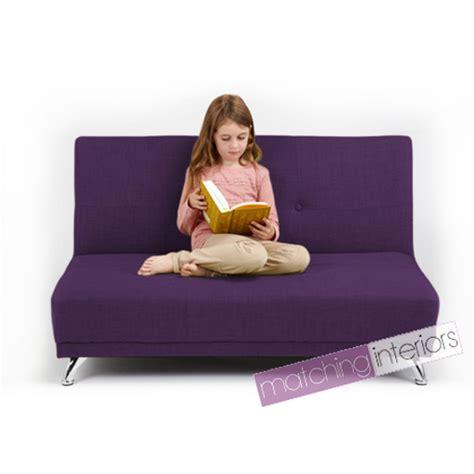 petit canapé clic clac violet clic clac enfants 2 places sofa lit invité soirée