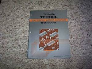1996 Toyota Tercel Electrical Wiring Diagram Manual Cx Dx