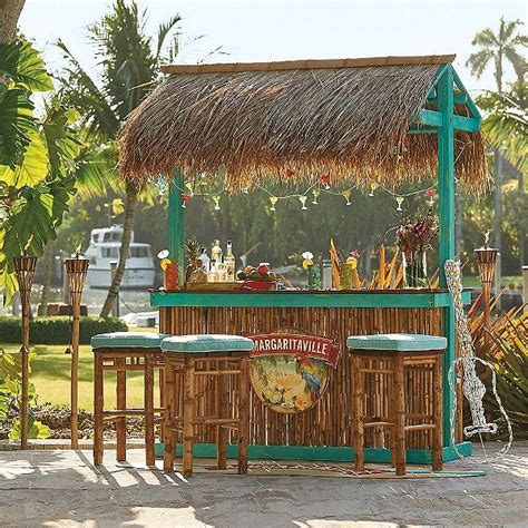 Tabletop Tiki Hut by Margaritaville Tiki Bar Looks So Can
