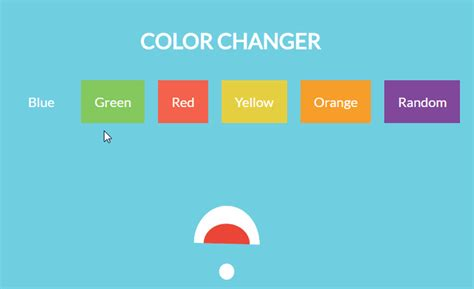 color js background color changer with react js