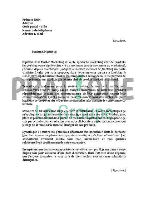 chef cuisine francais lettre de motivation pour un emploi de chef de produit