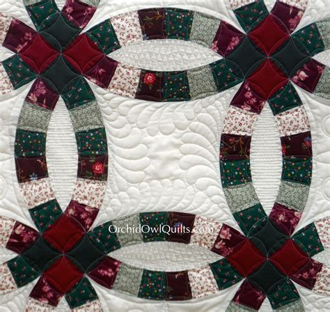 double wedding ring quilt orchid owl quilts