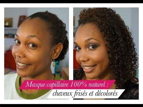masque capillaire  naturel cheveux frises