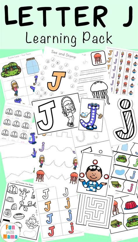 letter j worksheets activities with 902 | Letter J Learning Pack P