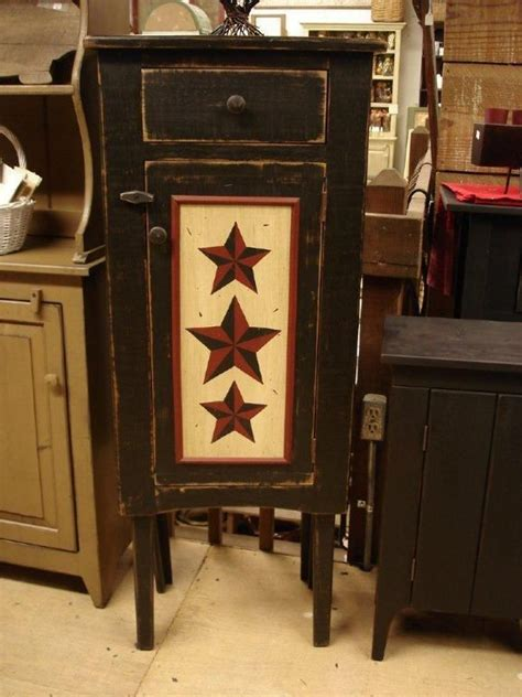 Amish Primitive Star Kaity Cupboard Cupboards