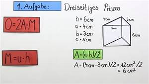 Rechtwinkliges Dreieck Online Berechnen : volumen und oberfl che von prismen mathematik online lernen ~ Themetempest.com Abrechnung