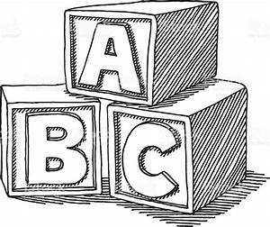 Education Abc Blocks Drawing Stock Vector Art & More ...