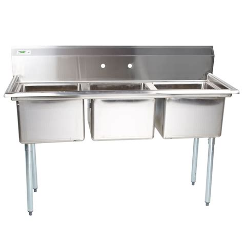 3 compartment sink dishwasher regency 54 quot 16 gauge stainless steel three compartment