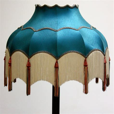 Tealight Lamp by Turquoise Lampshade With White Tassels Ten And A Half