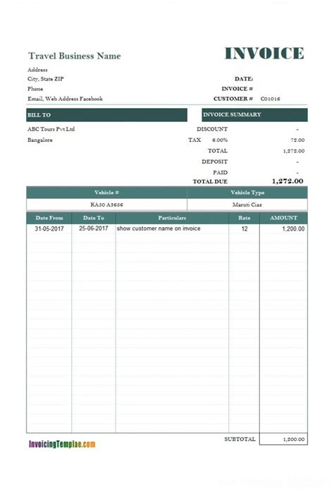 rent payment invoice template    images