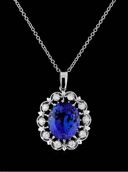Tanzanite Jewelry Diamond Deep Drawing Pendant Violetish