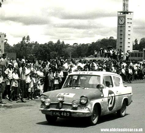 Ford 105e Anglia On A Rally In Kenya
