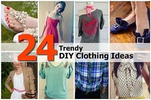 24 Trendy DIY Clothing Ideas