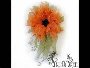 sunflower mesh wreath trendy tree orange poly burlap flower tutorial
