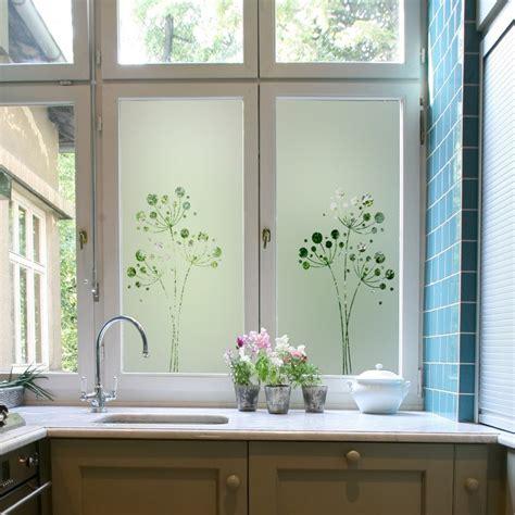 stickers pour fenetre cuisine sticker occultant pour vitre et fenêtre pissenlit