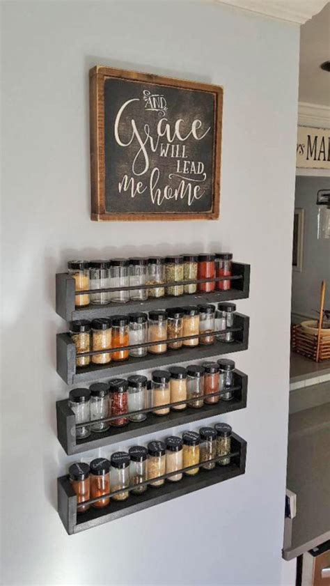 Large Wall Spice Rack by Kitchen Wall Spice Rack Small Changes Big Impact The