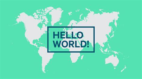 Hello World Program  Develop Apps