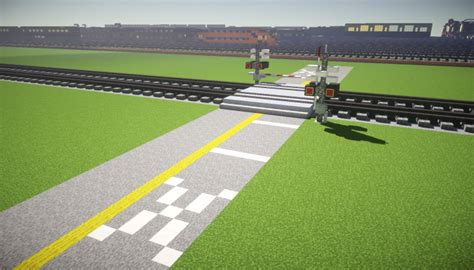 Railroad Crossing Infrastructure Minecraft Project