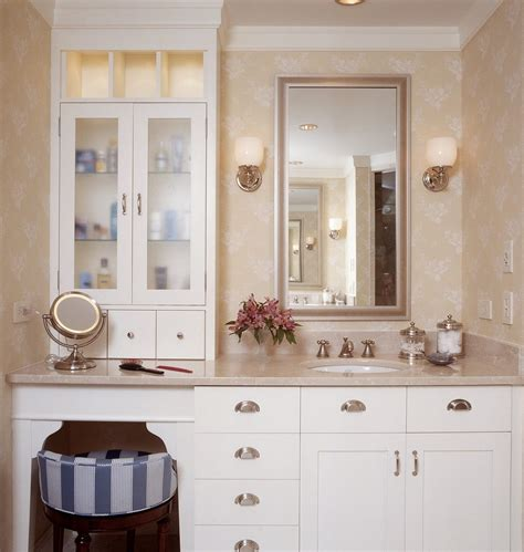 bathroom vanity with makeup counter dual vanity with makeup counter bathroom traditional with
