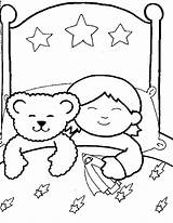 Sleeping Coloring Sleep Child Boy Pages Drawing Bear Cartoon Familycorner Getdrawings Sketch Template Corner Staff Posts sketch template