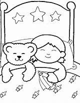 Sleeping Coloring Sleep Boy Pages Child Drawing Bear Familycorner Getdrawings Corner Staff Posts sketch template