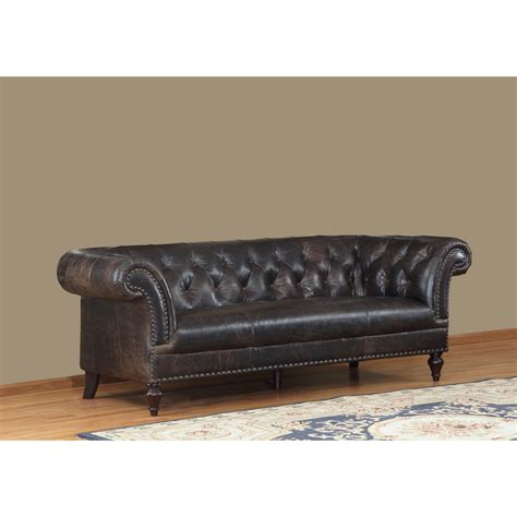 leather tufted sofa installing button leather tufted sofa the decoras 6896