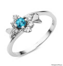 engagement rings with blue engagement wedding rings