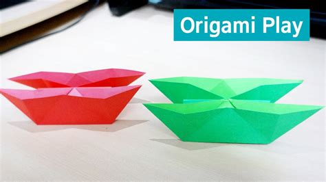 Origami Twin Boat Video by 종이접기 쌍둥이 배 만들기 Origami Twin Boat Youtube