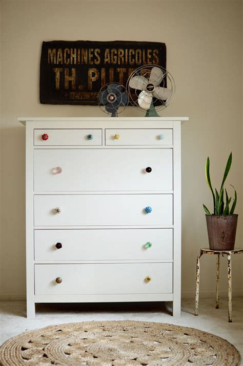 mismatched dresser knobs  beautiful mess