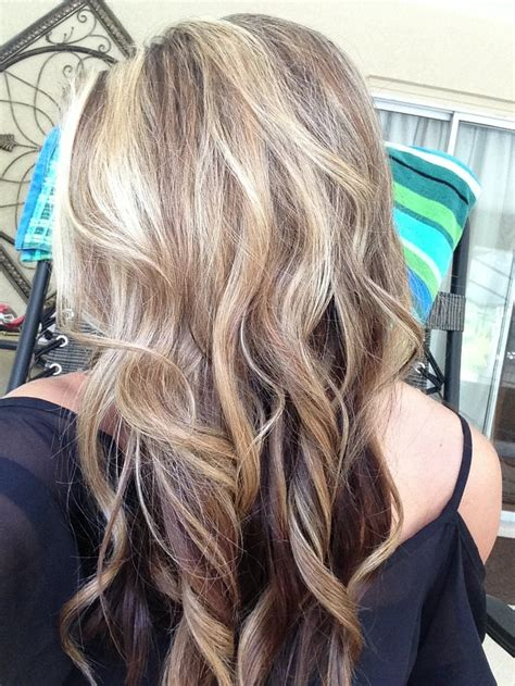brown  blonde hair love  highlights lowlights