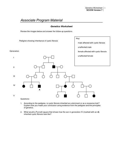 genetics pedigree worksheet key image collections