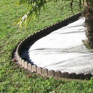 Bordure De Jardin Leroy Merlin : bordure courbe plastique marron x cm leroy merlin ~ Melissatoandfro.com Idées de Décoration