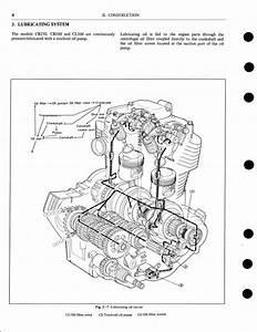 1976 Honda Cb250  360 Cl360 Cj250t Cj360t Motocycle Service