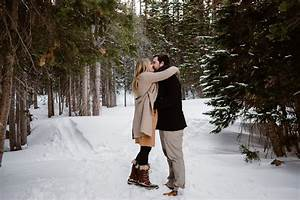 Cozy Winter Engagement Session At Bear Lake In Rocky