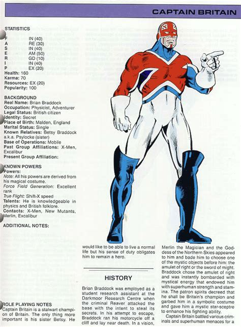 marvel heroes the captain britain fans page and