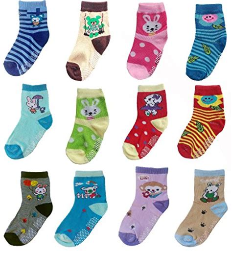socks ankle soled babies soft shoes cute toddler pack skid non 4t 5t crew years boys