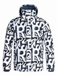 Mens Snowboard Size Chart Mission Printed 10k Snow Jacket Eqytj03017 Quiksilver