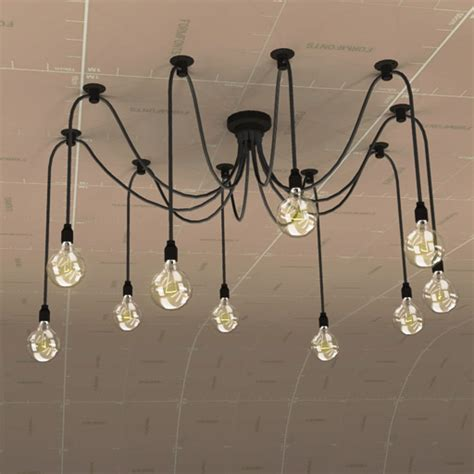 edison chandelier 3d model formfonts 3d models textures