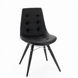 Chaise Pied Metal Noir : chaise moderne noire ou grise thais 4 pieds tables chaises et tabourets ~ Teatrodelosmanantiales.com Idées de Décoration