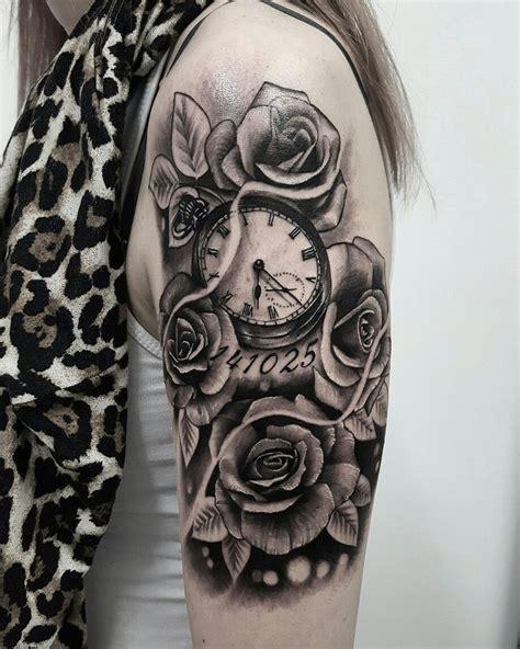Rose Tattoo  Arrethai  Tatouages Montre Gousset