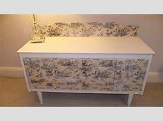 Cream Decoupage Dresser Shabby Chic Vintage Boutique