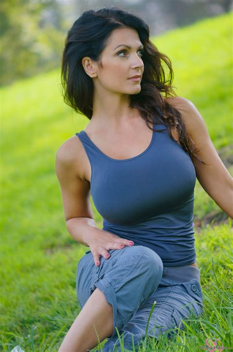 Cute Denise Milani Latest Hd Photoshoot In Park Gallery
