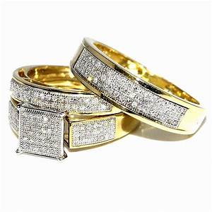 Wedding ring sets his and hers fresh amazon his her for Wedding rings his and hers sets