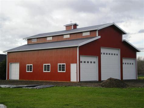 Style X Shop by Interior Of A Gambrel Pole Barn As A Home Ideas