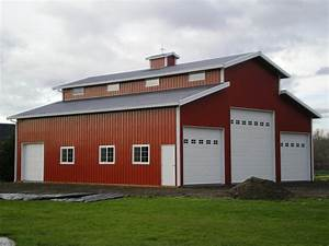 Pole barn workshop 4839x7239 monitor style building for Barn style metal buildings