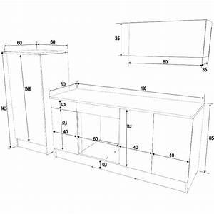 Taille standard meuble cuisine profondeur placard for Taille standard meuble cuisine