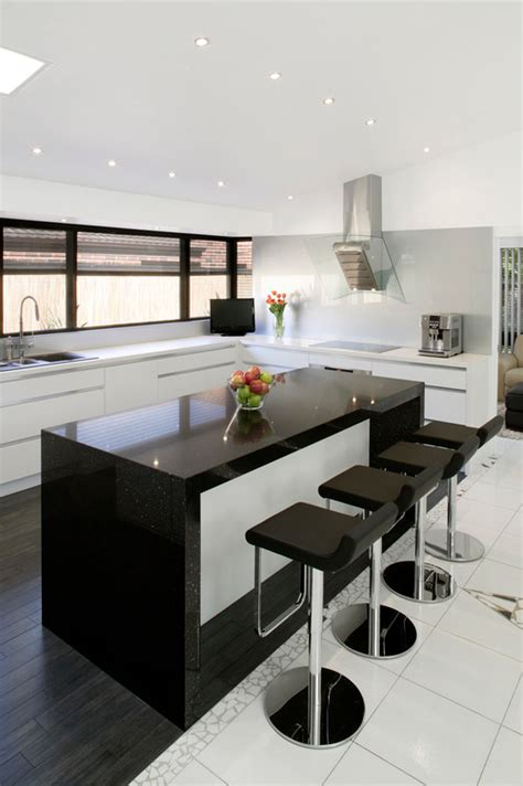Black Granite Bench Tops by How To Mix And Match Kitchen Countertop Materials