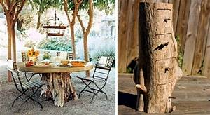 Of decoration and furniture from tree trunk itself – 15
