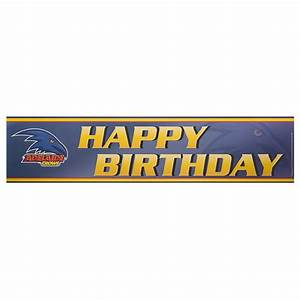 ADELAIDE CROWS BIRTHDAY BANNER - AFL Store