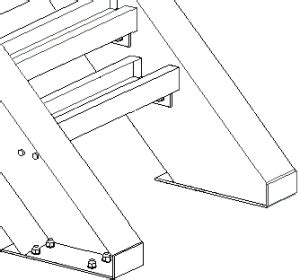 steel and wood staircase stair base detail 1038 tekla user assistance